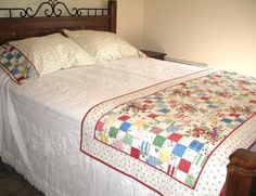Cottage Style Bed Runner or Scarf and Matching by fabric406, $130.00