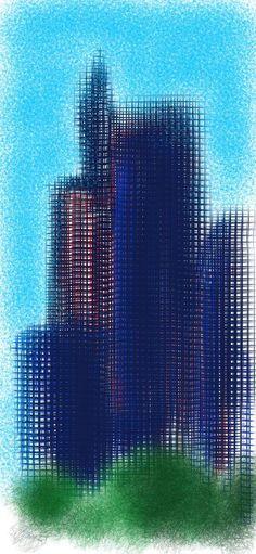 Artwork by Naveed Dowla Skyscraper, Skyline, Artwork, Construction, Marketing, Design, Building, Skyscrapers, Work Of Art