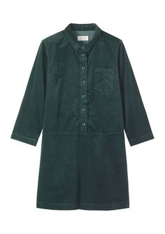 Women's Soft Cord Shirt Dress