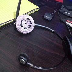 Crochet headset cover
