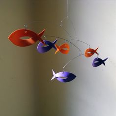 Two-color foam fish mobile consists of 6 pieces  by MultiColori