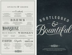 Moonshine Menu by Make & Matter #menu #identity
