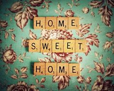 Home Sweet Home 11x14 Original Fine Art Photography. $45.00, via Etsy. --Could totally make a DIY shadow box like this.  Goodwill or garage sale scrabble + wallpaper + a shadowbox=awesome!