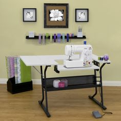 A Sewing Table For Small Spaces   Plans And Instructions For An Expandable  Sewing Table. Sweet! | For The Home | Pinterest | Small Spaces, Spaces And  Sewing ...