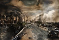 Post-Apocalyptic Concept Art | Post Apocalyptic Perth Cyberpunk, Post Apocalyptic City, Utopia Dystopia, Apocalypse World, Futuristic City, Matte Painting, End Of The World, Dark Fantasy, Science Fiction