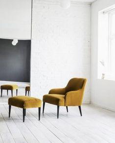 Kyst Lounge stol sort skinn designerhome.no