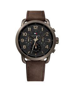 Tommy Hilfiger Horloge Briggs leder bruin 46 mm TH1791425 . Een mooi en  klassiek herenhorloge met een trendy look uitgevoerd met een horlogeband  van leder ... 11b76a2892b
