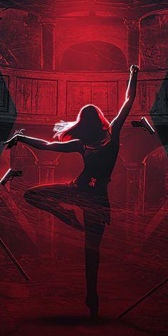 Black Widow, movie, dance, artwork, 1080x2160 wallpaper