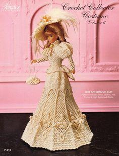 PDF Crochet Barbie Afternoon Dress, Barbie Gown, Crochet eBook, Pattern, Instant Download, Vintage, English