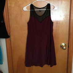Sheer top dress Sweetheart neck line, black sheer top, a-line skirt looks super cute with a black belt! H&M Dresses Mini