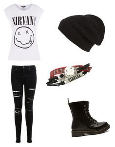 """""""Untitled #28"""" by piper-staunton on Polyvore featuring Miss Selfridge, Dr. Martens and Phase 3"""