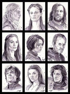 Game of Thrones Portrait series by roberthendrickson, via deviantart