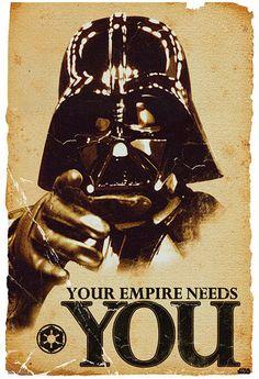 Star Wars Vader Empire Poster