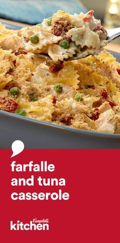 This scrumptious casserole features tuna, pasta, sun-dried tomatoes and a creamy Alfredo sauce. Ready in less than 1 hour, it's sure to become a family favorite.