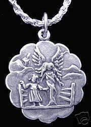 Vintage Heavens Gate Guardian Angel silver charm Sterling Silver 925 Jewelry