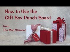 "Aug 27, 2014 How to Use the Gift Box Punch Board Stampin' Up! Make cute little boxes, up to 4"" x 4"" x 4"", quickly and easily"