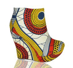 I wish there was a LOVE button. I FEEL A DIY COMING ON... Yes baby!!! I have the African fabric and the wedges.