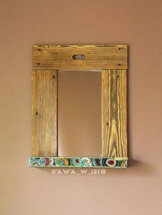 #Cororful_mirror by #kawa_w_lesie #mirror #decor_diy #home #home_and_living #home_ideas #art #frame #frame_diy #wooden_frame #mirror_diy #buy_me #hippie #etno #upcycling #chair_diy