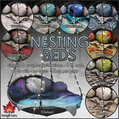 Trompe Loeil - Nesting Beds Gacha - L$25 per play - These are cool, not sure what I'd use it for, but going to get a few - Budget L$100