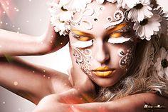 make up carnevale 2014 Jewel Makeup, Flower Makeup, Cat Eye Makeup, Drag Makeup, Face Rhinestones, Beauty Makeup Photography, Photography Women, Black Makeup, Beauty Hacks Video