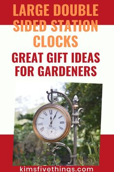 Howard Miller double sided clocks for sale. Expensive gifts for gardeners. Best Gifts For Gardeners, Top 5 Christmas Gifts, Outdoor Wall Clocks, Farewell Gifts, Clocks For Sale, Expensive Gifts, Clock Ideas, Gifts For Wine Lovers, Face Design