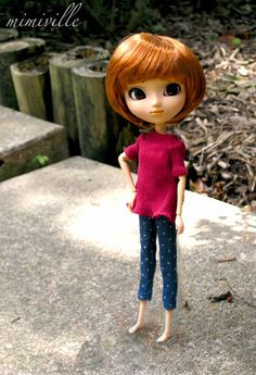 Polka dot capris for Pullip dolls {by mimiville on Etsy}