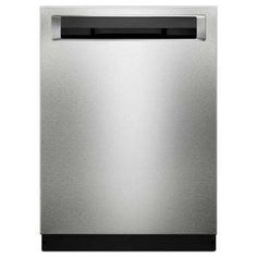 KitchenAid PrintShield Stainless 24 Inch Wide 14 Place Setting Energy Star Rated Built-In Fully Integrated Dishwasher with Stainless Steel Tub Kitchenaid Dishwasher, Built In Dishwasher, Fully Integrated Dishwasher, Steel Racks, Steel Manufacturers, Washing Dishes, Diy Kitchen, Peach Kitchen, Kitchenaid
