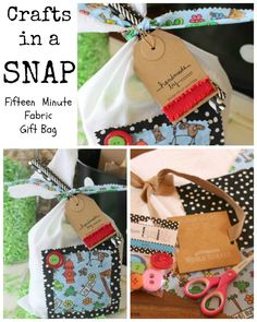 Crafts in a SNAP – DIY Fabric Gift Bag | Laura Kelly's Inklings