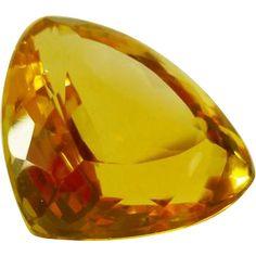 32 ct Pure Citrine Quartz Stone Unset