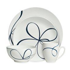 Vera Wang Wedgwood Glisse 4-Piece Dinnerware Place Setting - Bed Bath & Beyond