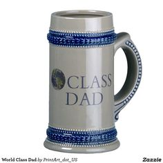 World class dad beer stein. Great gift for your number 2 dad.  Christmas, Father's Day, birthday, anniversary.  Now you know what to get your dad.