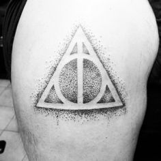 Want a dotwork deathly hallows on the inside of the lightbulb.