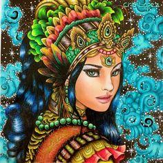 """472 Likes, 36 Comments - 🎨 Cris Cor & Arte 🖌 (@crislopez745) on Instagram: """"Cahya Ratu (Rainha de luz, no idioma indonésio). Parceria com mana Sacha Braga e mano Breno Belém.…"""""""