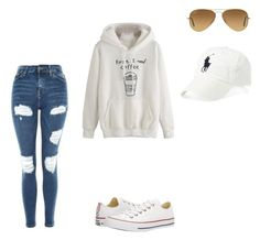 """Untitled #136"" by boring-727 on Polyvore featuring Topshop, Ray-Ban, Converse and Polo Ralph Lauren"