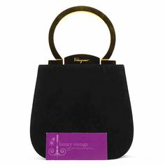 S.Ferragamo Vintage Bag Black Color Satin Good Condition PriceRm2xxxRef.code-(YEER-1) More Info Pls PM Or Email  ( luxuryvintagekl@ gmail.com )