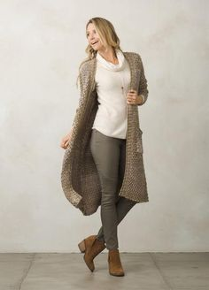 Prana Women's Rho Duster Outdoorsy Style, Outdoorsy Fashion, Jackets For Women, Clothes For Women, Cardigan Fashion, Knit Cardigan, Color Combinations, Kimono Top, Sweaters