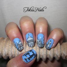 Taj Mahal - #TokiaNails  #nailart #nailartdesign #nailpics #naturalnails #mynails #TajMahal