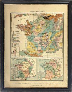 vintage france map print... etsy