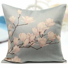 Cheap home decor packages, Buy Quality decorative home office furniture directly from China home reach Suppliers: Retro Fresh Flower Series Pillow Case Cover Peach Jade Orchid Plum Blossom Linen Cotton Hand Painted Pillowcase Home Supplies Couch Pillow Covers, Throw Pillows, Flower Pillow, Sewing Pillows, Animal Decor, Animal Fashion, Textiles, Fabric Painting, Pillow Design