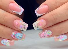 Vip Nails, Shellac Nails, Glitter Nails, Manicure, Pretty Nail Art, Beautiful Nail Art, Gorgeous Nails, Confetti Nails, Semi Permanente
