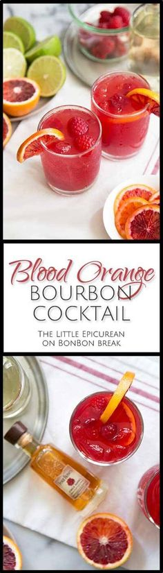 This blood orange bourbon cocktail is similar to a whiskey sour. The combination of citrus juices and ginger syrup creates a fresh and vibrant sour mix.