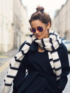 scarf + sunglasses