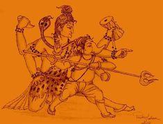 Shiva Art, Ganesha Art, Indian Gods, Indian Art, Saraswati Goddess, Motorcycle Paint Jobs, Lord Ganesha Paintings, Rangoli Designs Diwali, Indian Paintings