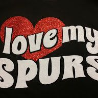 San Antonio Spurs-I Love My Spurs Glitter t by TinasCustomTees  Like me on Facebook for more custom designs! https://www.facebook.com/tinascustomtees