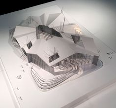 """The design concept of TCDC Khon Kaen was inspired by the Thai Northern or E-Sarn people, cultural custom of「Lom Wong」or """"ล้อมวง"""" Maquette Architecture, Architecture Concept Drawings, Pavilion Architecture, Architecture Student, Architecture Portfolio, Interior Architecture, Landscape Architecture, Sustainable Architecture, Residential Architecture"""