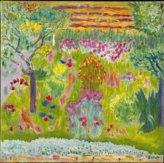 This landscape of about 1935 may depict a corner of the artist's beloved garden at Le Cannet on the French Riviera.
