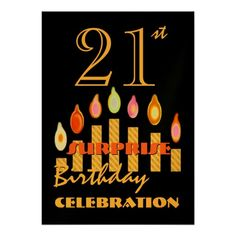 20th - 29th SURPRISE Birthday Party Invitation