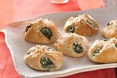 Cheesy Spinach Bundles