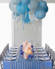 blue + white theme