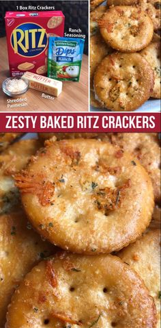Zesty Baked Ritz Crackers Take a box of Ritz crackers and turn it from boring to addicting! These are an easy snack idea or party appetizer. Serve them with cheese and deli meat-- delish! Super easy and cheap, too. Kids and adults love them. Yummy Appetizers, Appetizers For Party, Yummy Snacks, Yummy Food, Crackers Appetizers, Recipes With Ritz Crackers, Savory Crackers Recipe, Ritz Cracker Recipes, Parties Food